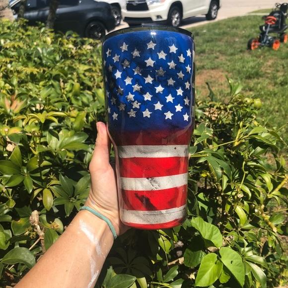Distressed American Flag Tumbler